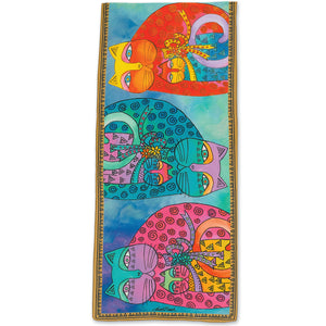 Laurel Burch Artistic Scarf Cats Mermaid