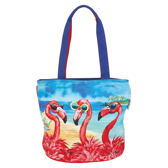 Paul Brent Flamingo Friends Medium Tote