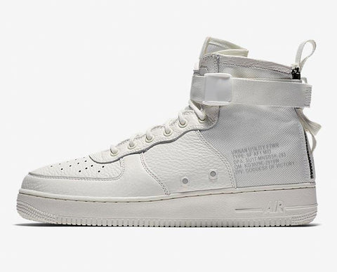 Nike SF AF1 Mid Air Force 1 'Triple Ivory' Quick Strike
