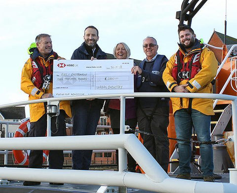 Urban Industry donates ?1000 to the RNLI, Eastbourne.