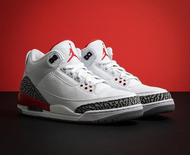newest 110f2 61e08 SMI nike airjordan3retro shoe whitefireredcementgrey button 1.jpg v 1537644163