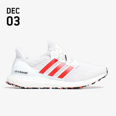 Adidas UltraBOOST Shoes - Footwear White/Active Red/Chalk White