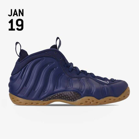 Nike Air Foamposite One Shoes - Midnight Navy/Midnight Navy - 314996-405