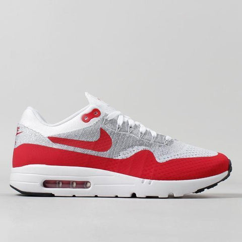 Nike Air Max 1 Ultra Flyknit - White University Red - LAUNCHED Thursday 28th July 2016 09:00am BST