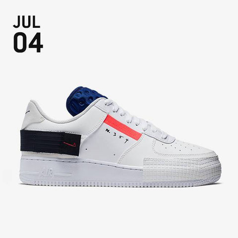 Nike Air Force 1 Type Shoes - Summit White/Red Orbit/White/Black - CI0054-100