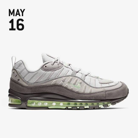 Nike Air Max 98 Shoes - Vast Grey/Fresh Mint/Atmosphere Grey - 640744-011