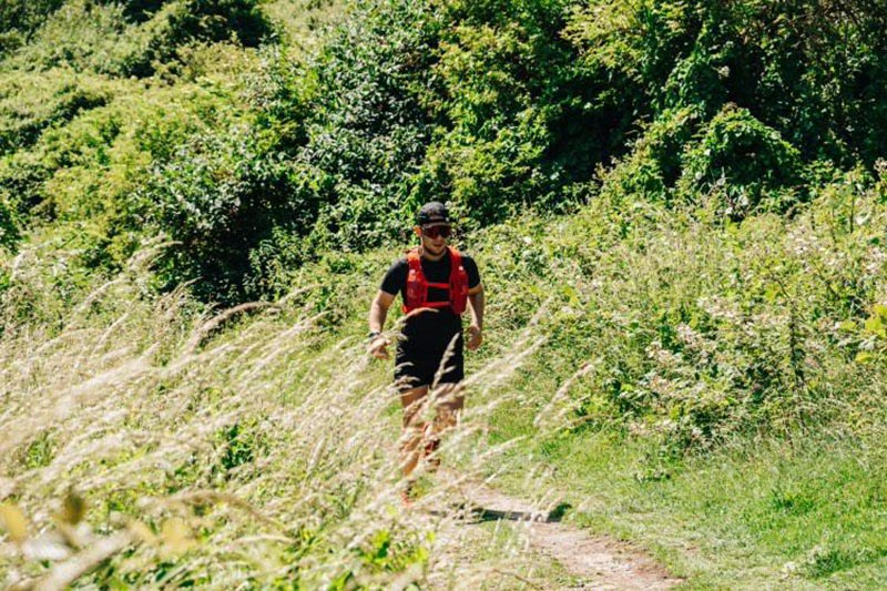 Jake Taplin, Running on the South Downs