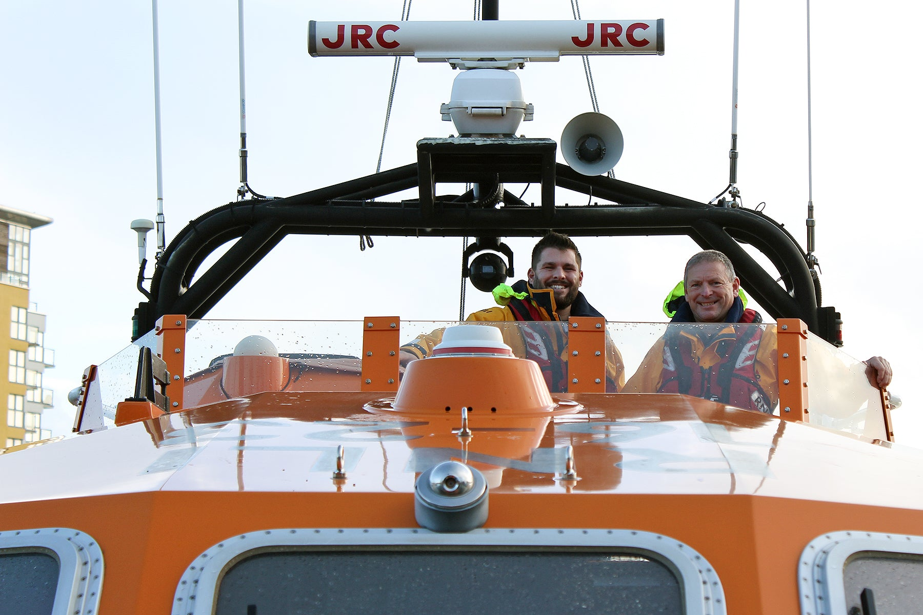 Urban Industry donates £1000 to the RNLI, Eastbourne.