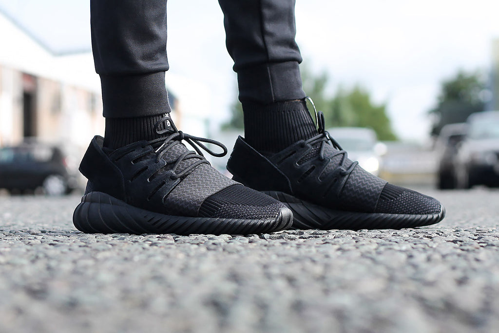 size 40 fb0b3 c44f6 adidas Originals Tubular Doom Primeknit 'Core Black' – Urban ...