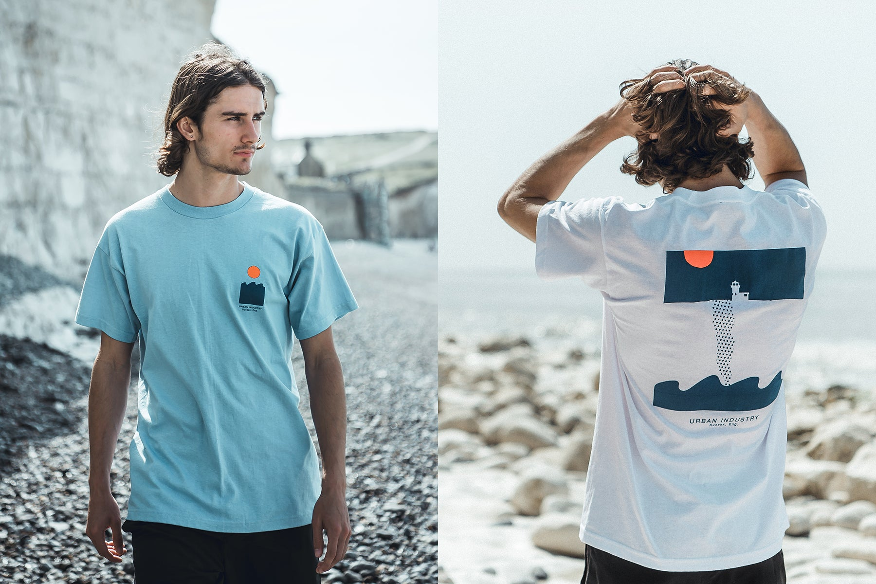 Urban Industry Summer 18 Capsule, Belle Tout T-shirt in Eastbourne
