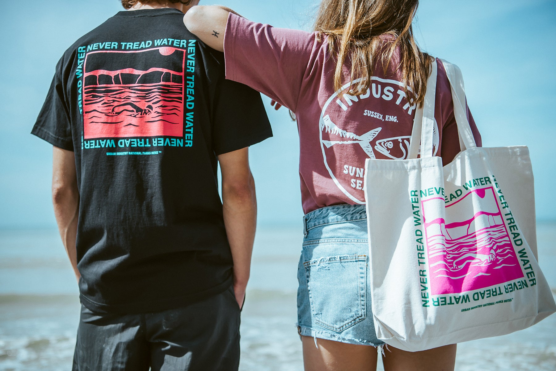 Urban Industry Summer 18 Capsule, Never Tread Water and Fish Industry T-shirt in Eastbourne