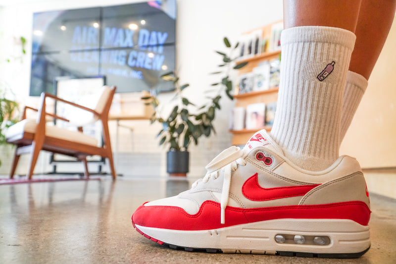 Jason Markk wearing Nike Air Max 1