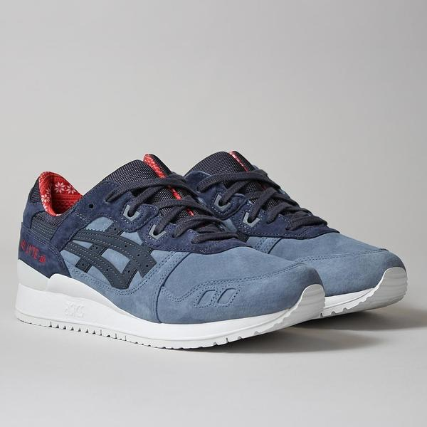 Asics Gel Lyte III Shoes - Blue Mirage/India Ink - Christmas Jumper Pack at Urban Industry