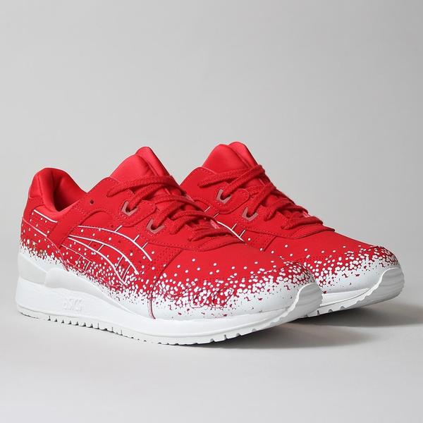 "Asics Gel Lyte III Shoes - Red/Red - ""Snowflake"" Pack at Urban Industry"