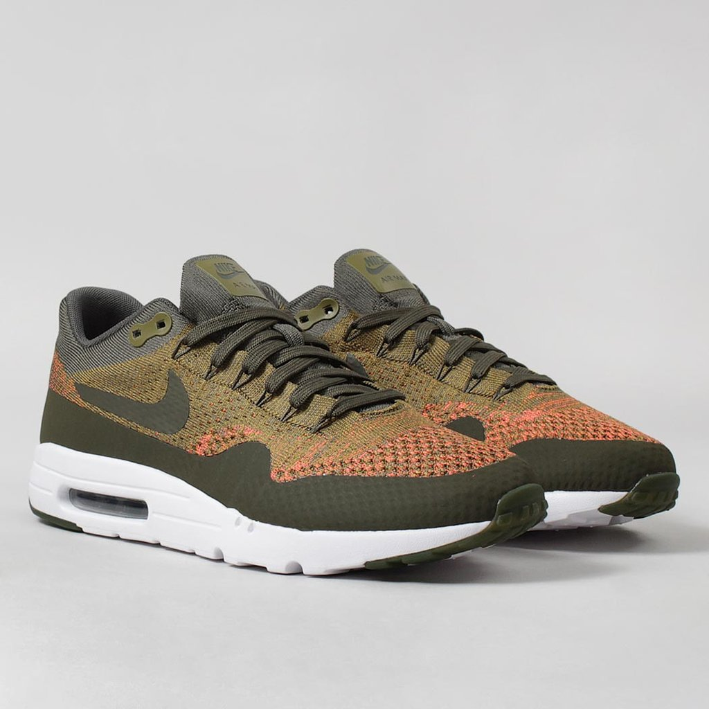 Nike Air Max 1 Ultra Flyknit Olive Khaki LAUNCHED