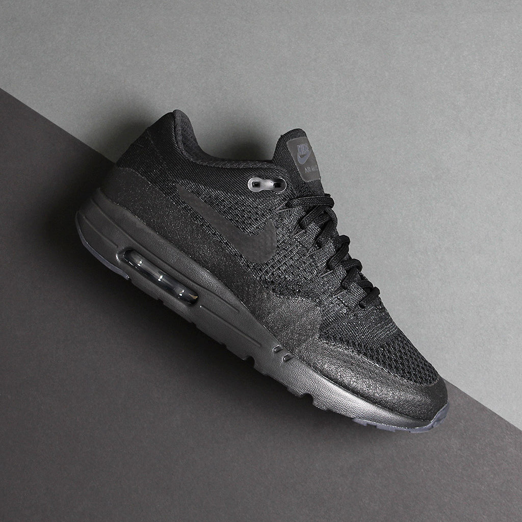 Nike Air Max 1 Ultra Flyknit - Black/Black at Urban Industry