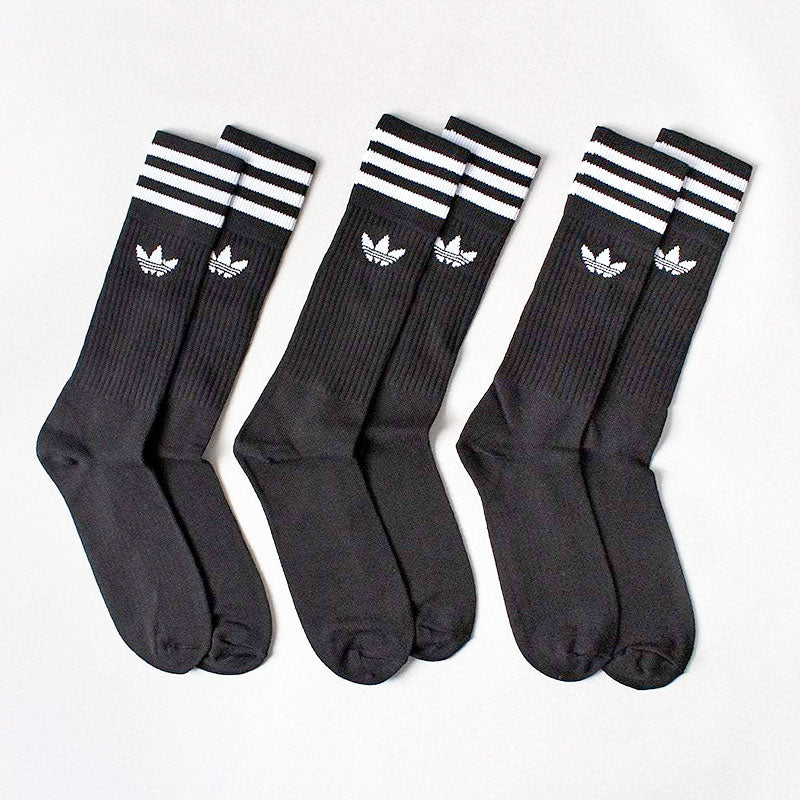 Adidas Originals Solid Crew Socks 3-Pack