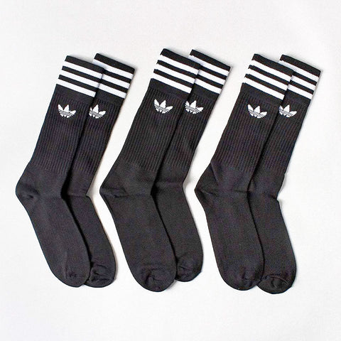 Adidas Originals Solid Crew 3 Pack Socks – Urban Industry