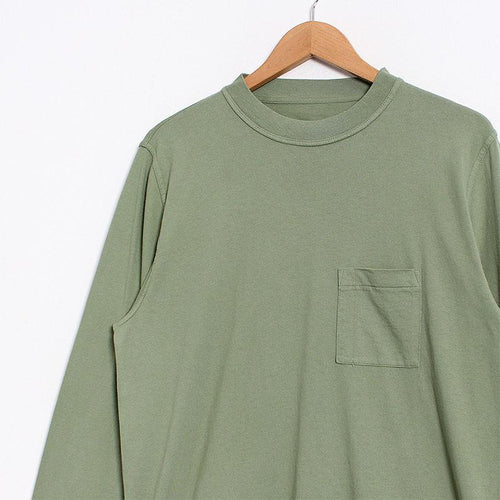 Albam Long Sleeve Workwear Pocket T-shirt