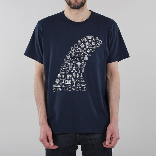Battenwear Surf The World Pocket T-shirt
