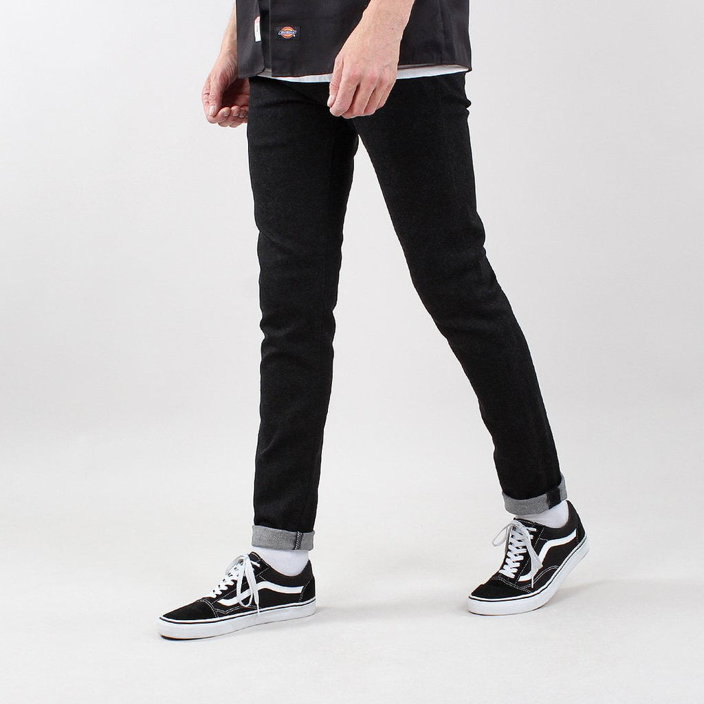 Edwin ED-85 CS Slim Tapered Fit Ayano Black 12oz Denim Jeans