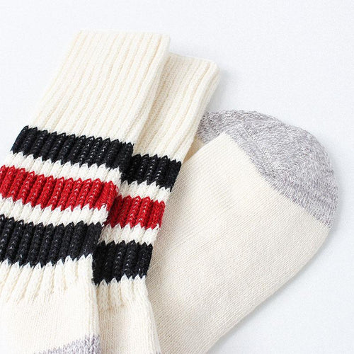 Rototo Coarse Ribbed Old School Crew Socks