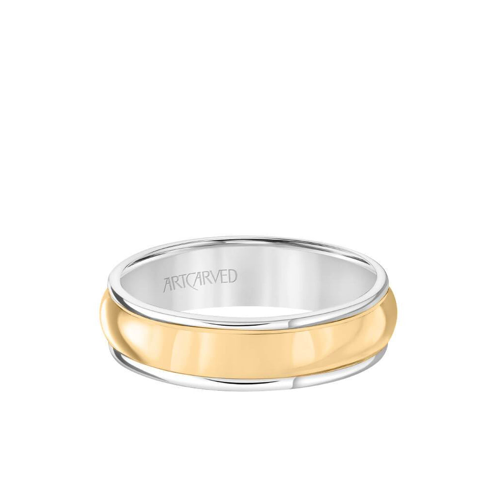 6MM Men's Classic Wedding Band - Polished Finish and Round Edge
