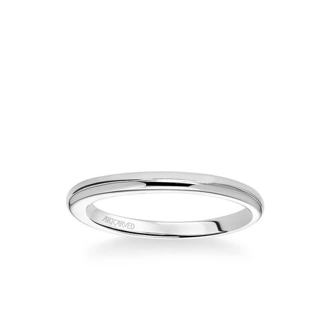 April Contemporary Polished Wedding Band