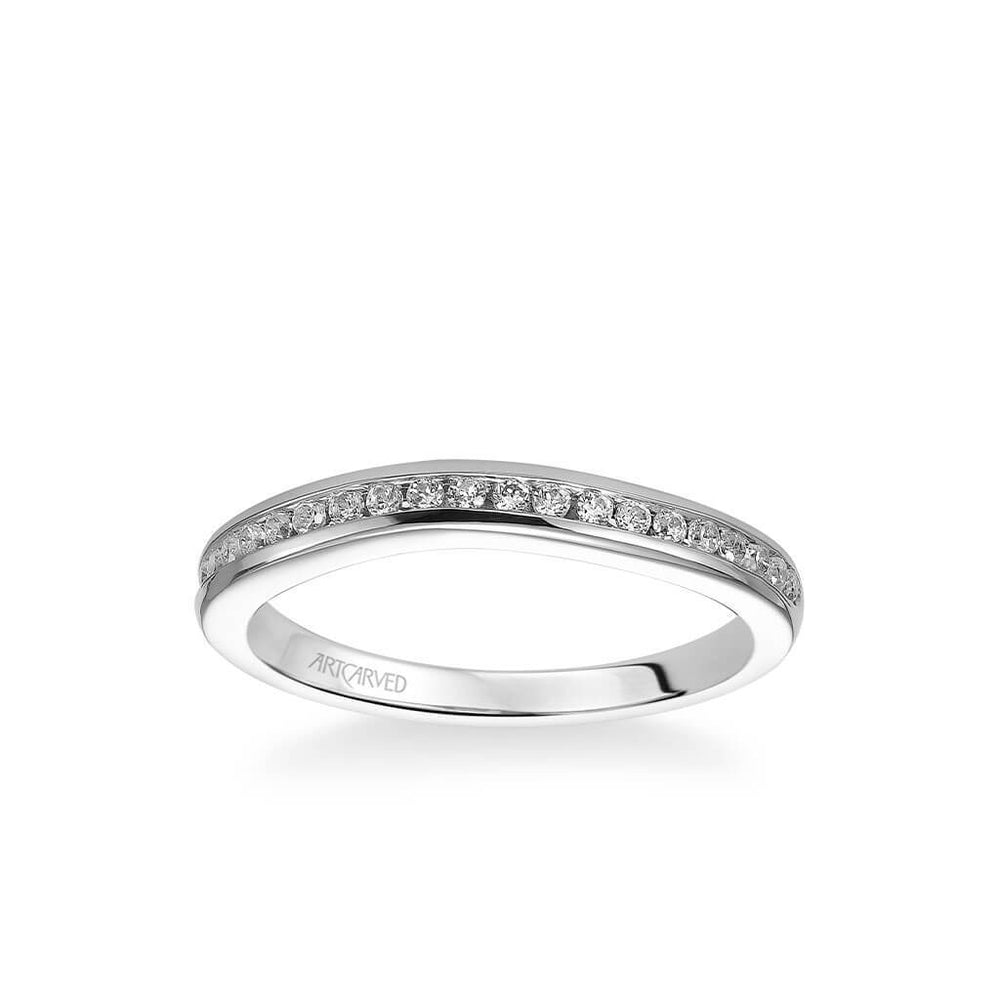 Carina Contemporary Channel Set Diamond Wedding Band