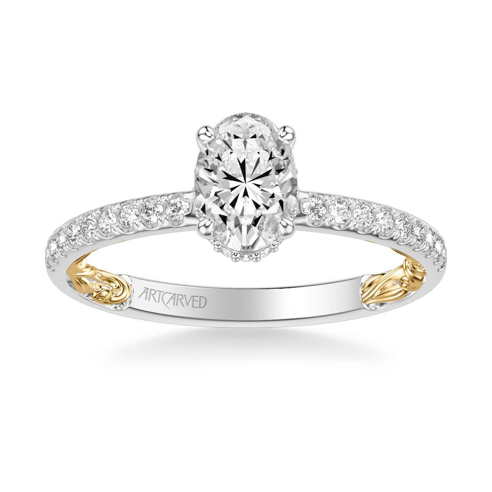 Brianne Lyric Collection Classic Side Stone Diamond Engagement Ring