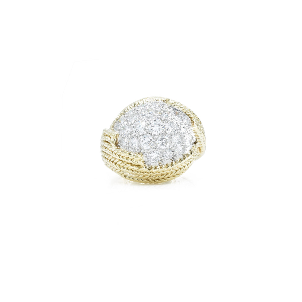 Estate 18kt Gold and Diamond Ring