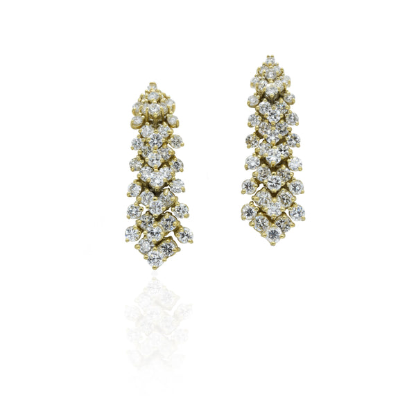 18kt Gold Estate Earrings