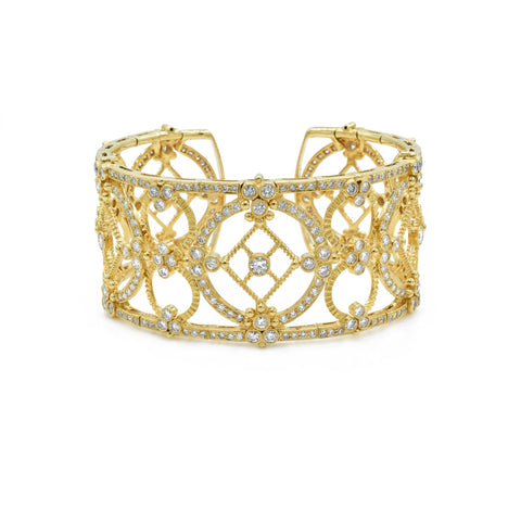 18kt Yellow Gold and Diamond Cuff