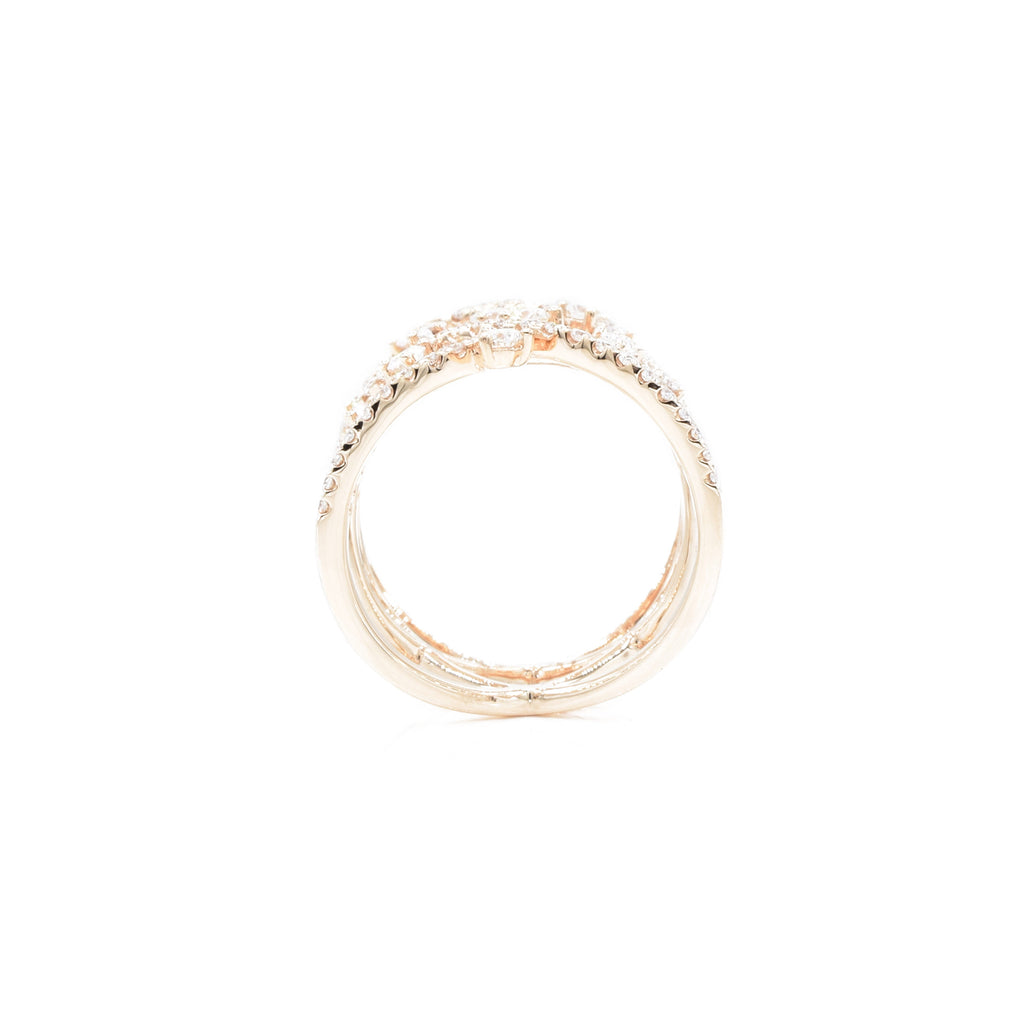 18kt Rose Gold and Diamond Criss-Cross Ring