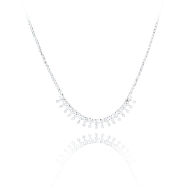Estate Platinum and Diamond Necklace