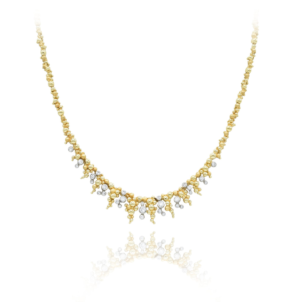 Estate 18kt Yellow Gold and Diamond Necklace