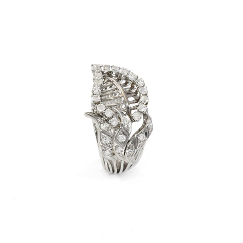 Estate Ring Platinum and Diamond 1.50CT TW