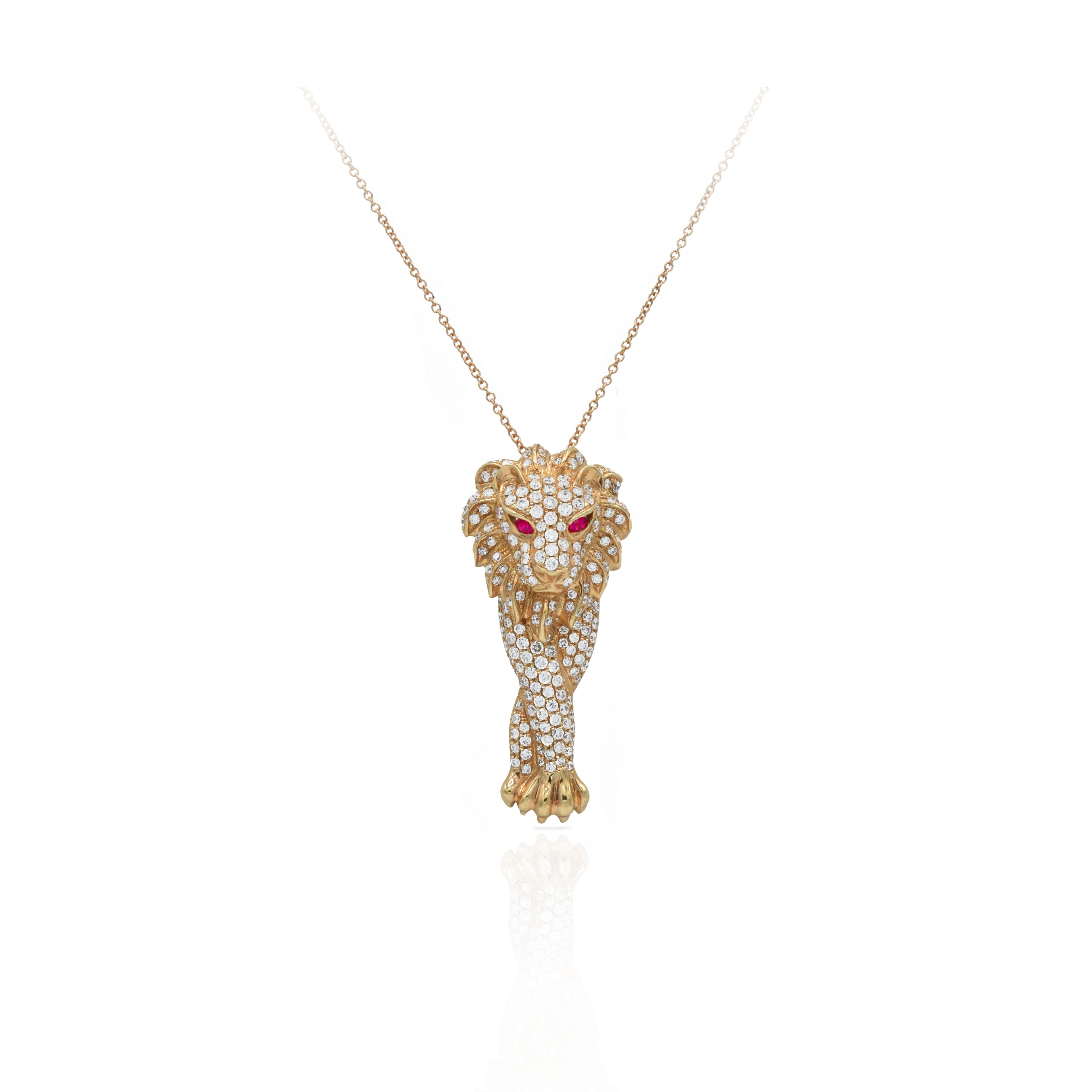 of touch sales ice roaring lion large modern necklace pendant king
