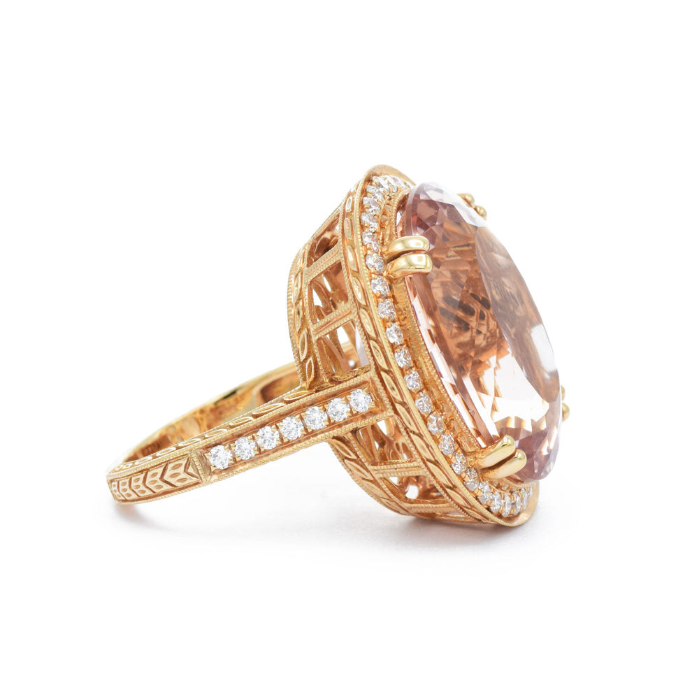 18kt Rose Gold Morganite Ring