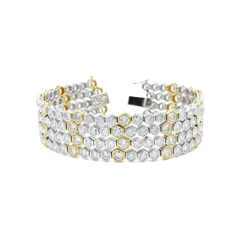 18kt Yellow and White Gold Diamond Bracelet