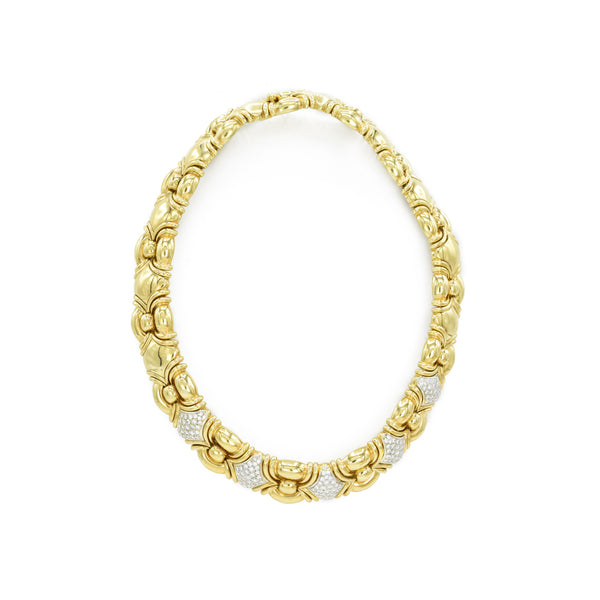 Estate 18kt Gold and 3.10ct Diamond Necklace
