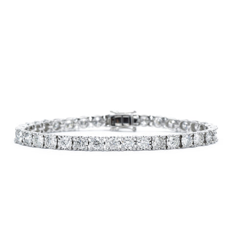 14kt White Gold 7.00 carat Diamond Tennis Bracelet