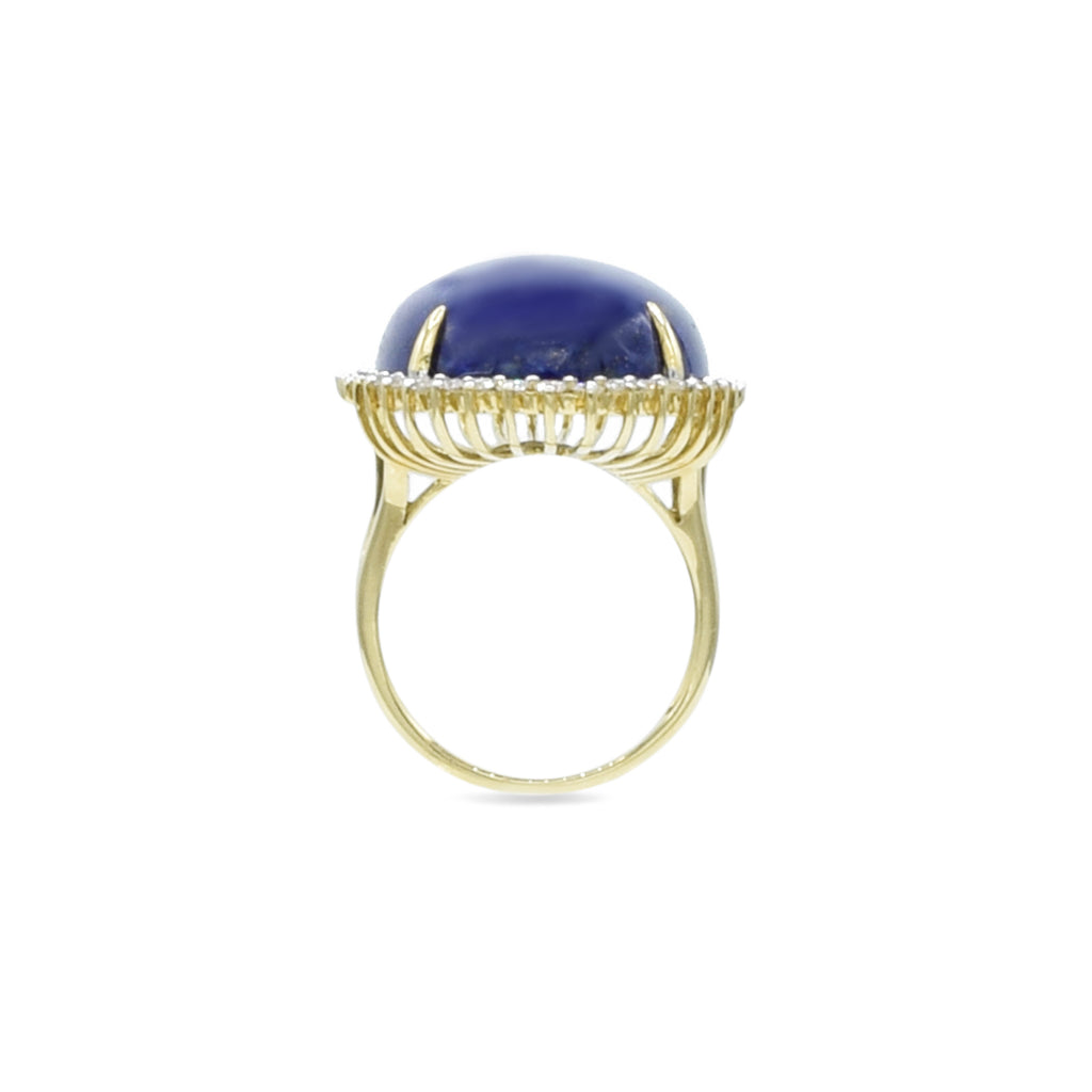 Lapis and Diamond Ring Set in 18kt Yellow Gold