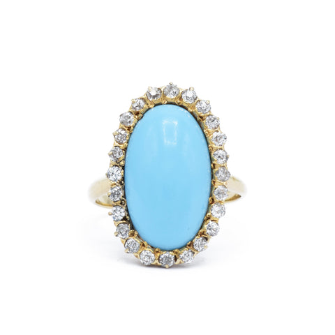 Estate 1920s Natural Turquoise Ring