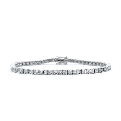 14kt White Gold 1.00 carat Diamond Tennis Bracelet