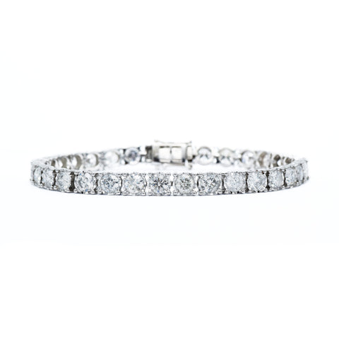 14kt White Gold 10.00 carat Diamond Tennis Bracelet