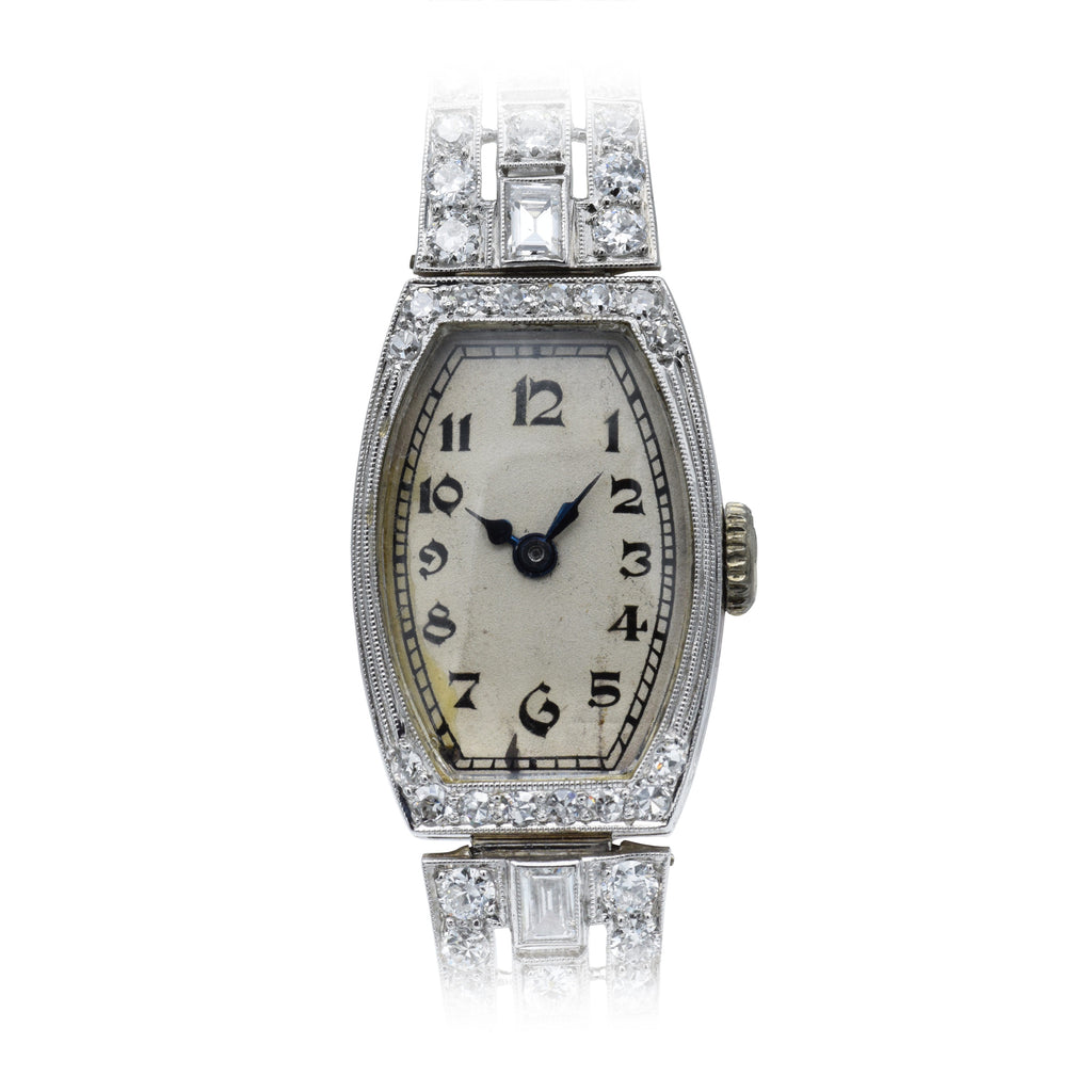 Vintage 1940s Gruen, Gold and Platinum Watch with Diamonds