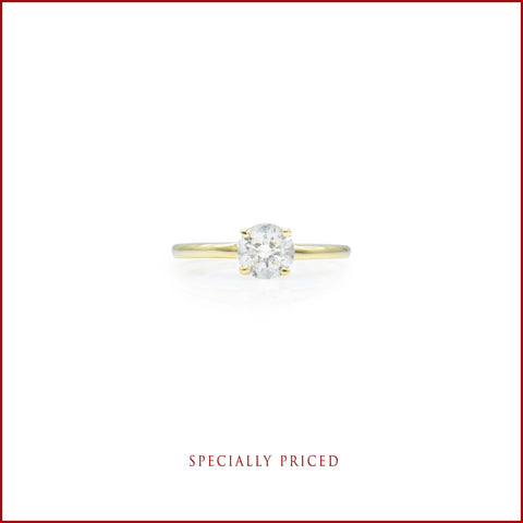 14kt Yellow Gold .75ct Solitaire Diamond Ring