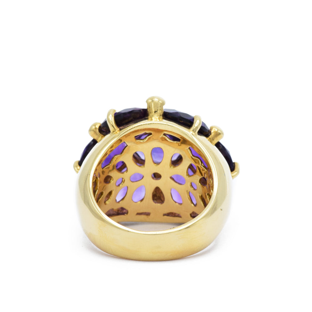 18kt Estate Amethyst Gold Dome Ring