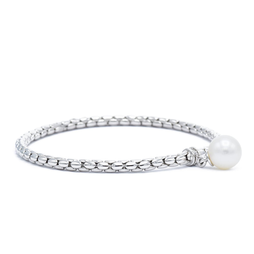 Chimento 18kt White Gold, Pearl Drop Bracelet